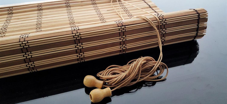 ahşap bambu perde